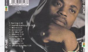 1996 M'du Masilela - Godfather of Kwaito Music - Album - ipompe (back album cover)